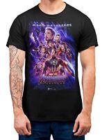 Avengers Endgame T-Shirt Movie Poster Men's Superhero Adults T-Shirts