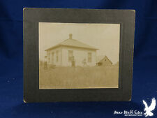 Antique Portrait 2 Men Dog Hip Roof House Barn One Small Tree Storm Cellar