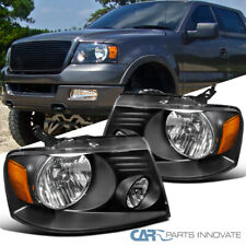 Fit Ford 04-08 F150 Lincoln 06-08 Mark LT Euro Black Headlights Driving Lamps