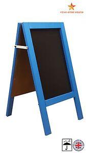 BLUE - A BOARD - PAVEMENT BOARD - CHALKBOARD - PAVEMENT SIGN