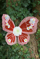 RED BRIDAL WINGS WEDDING FLOWER BUTTERFLY FAE FAIRY FAIRIES PIXE FESTIVAL