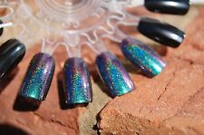 Holographic Spectraflair Color Shift Top Coat - MINI 5 ml. Bluish Green Purple