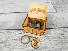 Harry Potter Theme Song Music Box Engraved Wooden Music Box With Keychain