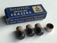 Vintage Sheaffer Regular Mechanical Pencil Erasers NOS 3 Per Sleeve USA