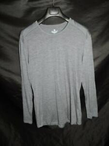 Segments XXL 2X Gray Merino Wool Shirt Seg'ments Base Layer Crew Neck Woman 2XL
