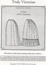 Motivi di sezione truly Victorian TV 201: 1870's underskirt