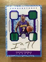 2017-18 Panini Cornerstones ISAIAH THOMAS L.A Lakers Quad patch Auto! 11/49!