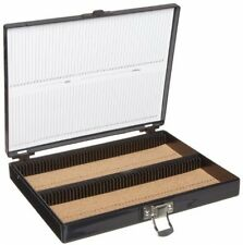 Heathrow Scientific HD15994G Microscope Slide Box, Cork Lined, 100 Place, 208 X