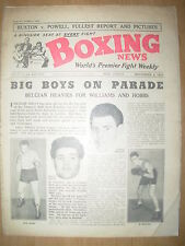VINTAGE BOXING NEWS MAGAZINE NOVEMBER 4th 1953 JOHNNY WILLIAMS v AL BERNARD