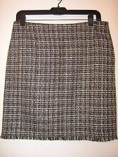 New York & Company black/white checkered pattern pencil skirt, size 6