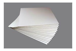 MDF Hartfaserplatten 80x120 cm Holzwerkstoff 2,5 mm einseitig Weiß beschichtet