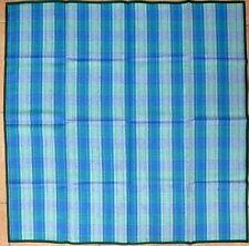 Tischdecke Halbleinen Blaugrün  90x90cm  5103