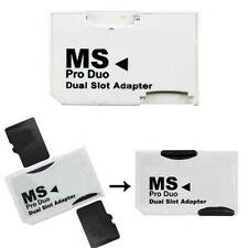 Dual slot Micro SD SDHC TF to MS Memory Stick Pro Duo Converter Adapter O1T6