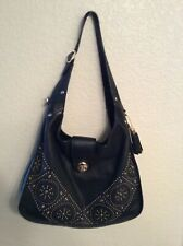 Coach Black Leather Purse with Studs