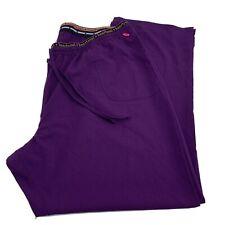 Heart Soul Drawstrings Scrub Pants Purple Plus Sz 3Xl Style 20110 Excellent