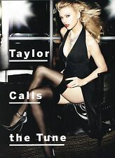"""TAYLOR SWIFT in thigh high stockings - 11"""" x 8"""" MAGAZINE PINUP - POSTER"""