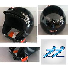 CASCO SCOOTER/MOTO DEMI JET 3 BOTTONI NERO LUCIDO SMARTY 1FH SKA-P  TG XS