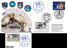 FDC Kazakhstan-France Proxima Soyuz MS-03 Back on Earth of Pesquet 2017 - TYPE2