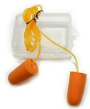 FOAM EAR PLUGS IN A PLASTIC CASE, REUSABLE, CONSTRUCTION, RACING, HUNTING, NEW