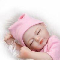 Mini Alive Vinyl Silicone Bath Toy Pink Handmade Reborn Girl Baby Doll Preemie