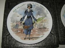 Edith 1915 D'Arceau Limoges France Collector Plate Women Century Ganeau 1976 F