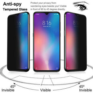 For Xiaomi Mi 9 Redmi Note K20 Pro Privacy Anti-Spy Tempered Glass Screen Films