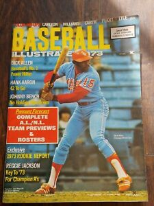 1973 Baseball Illustrated magazine Dick Allen Chicago White Sox Hank Aaron HOF ⚾