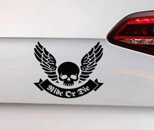 Moto calavera auto pegatinas Ride or la Skull sticker Chopper quad Bike