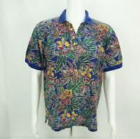 Vintage Gant Polo Shirt Floral All Over Print Short Sleeve Mens Medium