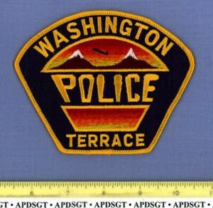 WASHINGTON TERRACE UTAH Sheriff Police Patch COLORFUL SUNSET WASATCH MOUNTAINS