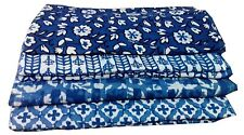 100 yards wholesale price Block Print Lot Indigo Dabu Print Cotton Fabric bulk