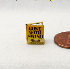 1:24 Scale Book GONE WITH THE WIND Miniature Book Dollhouse 1/2 Half Scale Book