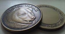 Black Bear antiqued bronze coin