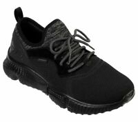Skechers Black Shoes Men Memory Foam Soft Sporty knit mesh Comfort Outdoor 51902