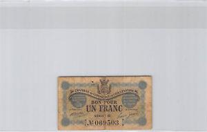 Chambre de Commerce de Constantine 1 Franc1er Mai 1915 Série B n° 069503