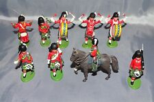 Britains Ltd. Hong Kong British Regiments 9 Soldiers w/1 Horse -All are Plastic