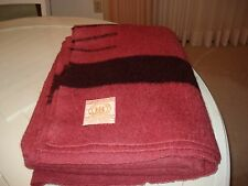 Vintage Beautiful Hudson's Bay 4  point 100% Wool Trapper Blanket