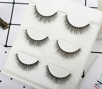 113# New 3Pairs 100%Handmade 3D Natural Thick Long False EyeLashes