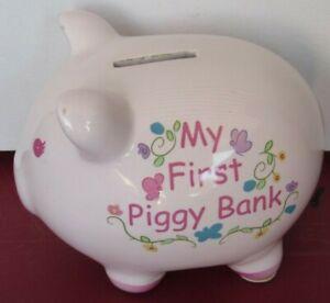 Cute my First Piggy Bank Gift - Baby Girl -