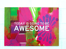 """AWESOME"" Printed Wall Art MDF"