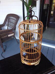 Asian Bamboo Bird Cage Small decorative