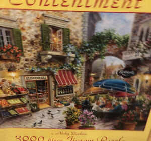 "Sunsout ""CONTENTMENT"" 3000 piece Jigsaw Puzzle 31"" X 42.25""Nicky Boehme SEALED"