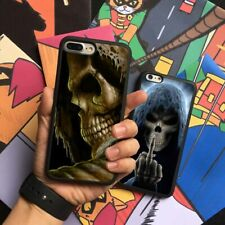 Scary Skeleton Horror Silicone Phone Case Cover For iPhone Samsung Galaxy