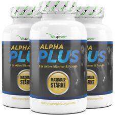 3x Alpha Plus L-Arginin + Maca + Tribulus + Sex Potenz Testosterone Booster