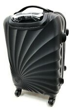 Hardside Spinner Luggage - 20-Inch, Carry-On-4 Wheels-Hot Black Swirl FREE Scale