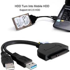 NEW USB3.0 to 2.5 inch HDD SATA Hard Drive Cable Adapter for SATA 3.0 SSD&HDD UP