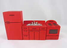 Dollhouse Miniature HALF Scale 1:24 RED Retro Kitchen Set, T0272