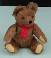 Clemens Spieltiere Brown Mohair Teddy Bear  with tummy squeaker West Germany