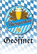 Biergarten geöffnet Blechschild Schild gewölbt Metal Tin Sign 20 x 30 cm