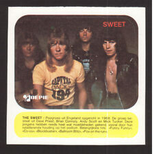 The Sweet Brian Connolly Vintage Belgian Pop Rock Music Sticker C